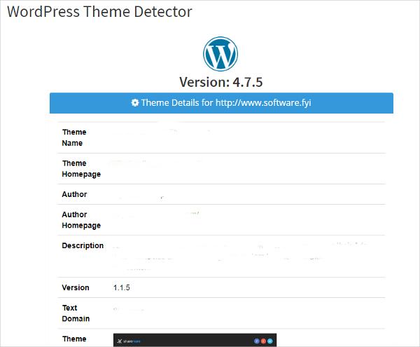 wordpress detector