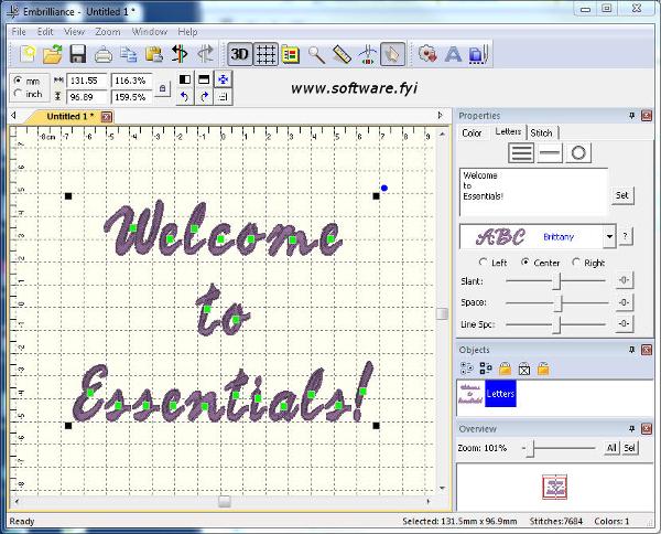 Embrilliance Essentials software