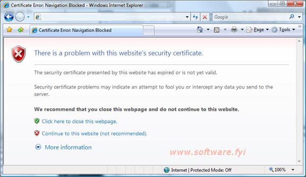 internet error certificate explorer errors fix security fyi software websites trusted accessing sometimes displays